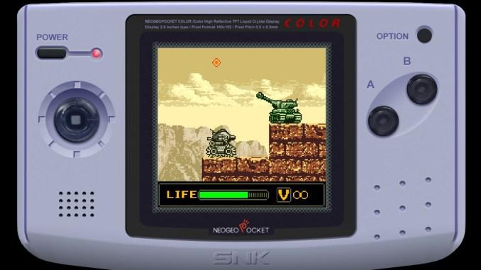 """Das Bild zeigt eine Szene mit einem Panzer in """"Metal Slug 1st & 2nd Mission""""."""