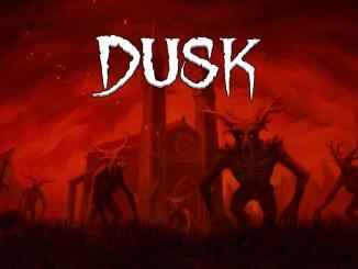 """Das Bild zeigt das Logo von """"DUSK""""."""