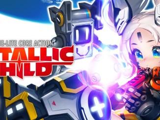 """Das Bild zeigt edas Logo des Spieles """"Metallic Child""""."""