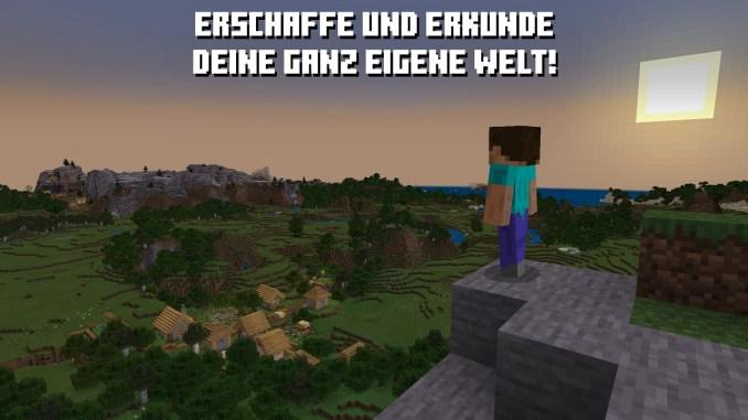 """Das Bild zeigt eine Szene aus dem Spiel """"Minecraft""""."""