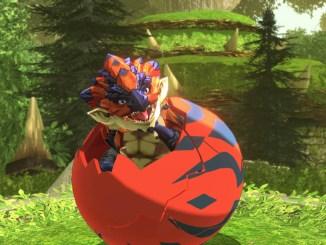 """Das Bild zeigt eine Szene aus dem Spiel """"Monster Hunter Stories 2: Wings of Ruin""""."""