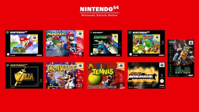 Das Bild zeigt die verfügbaren Nintendo 64-Spiele.