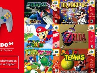 Das Bild zeigt die neue Nintendo Switch Onlinemitgliedschaft. Sie enthält Nintendo 64-Spiele.