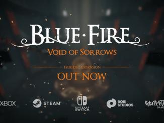 """Das Bild zeigt das Logo des """"Blue Fire – Void of Sorrows""""-DLCs."""