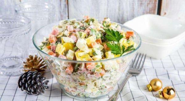 Зимний салат; Оливье: популярные рецепты с фото — как ...