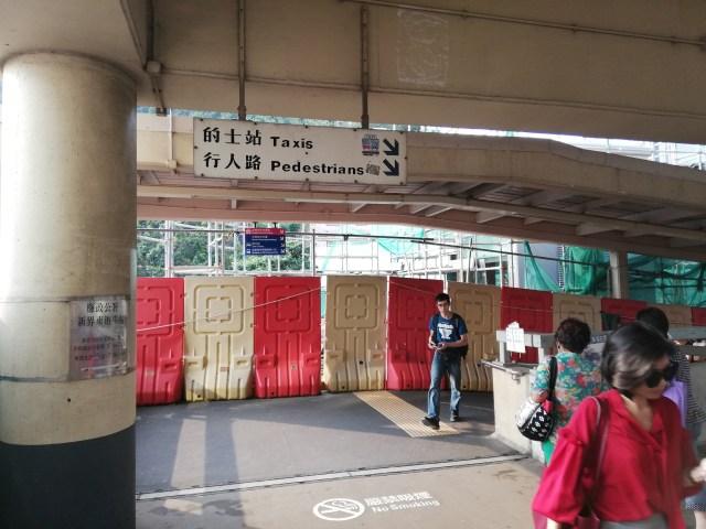 沙田(シャティン)駅出てから左へ
