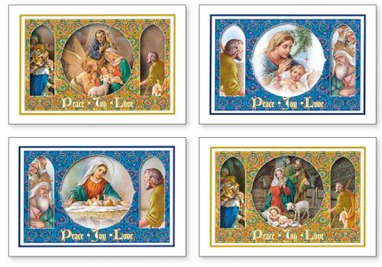 CATHOLIC GIFT SHOP LTD 18 Catholic Christmas Cards Boxed