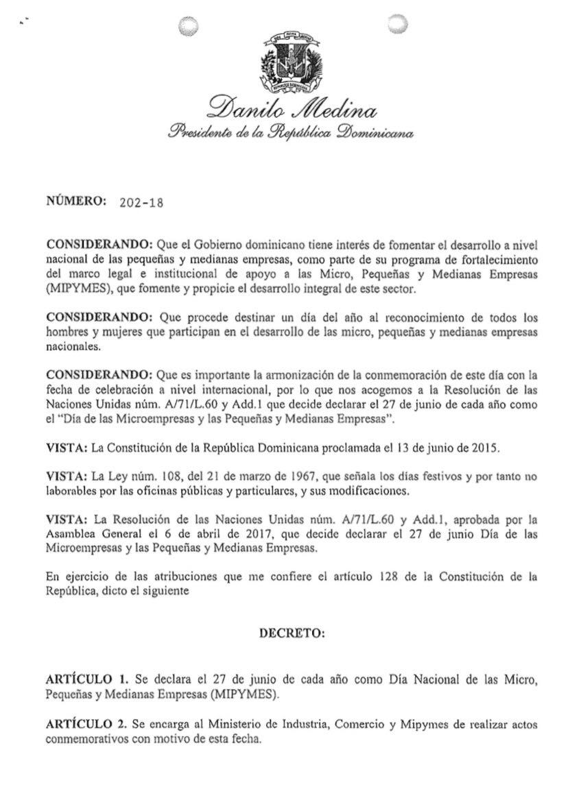 Ejecutivo Declara El 27 De Junio De Cada Año Día De Las