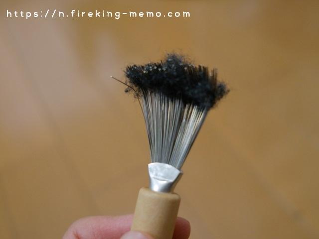 ブラシクリーナーでブラシについた毛玉がごっそり取れた
