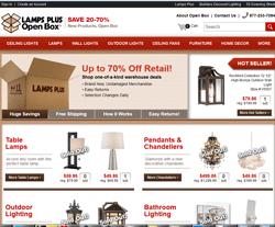 Lamps Plus Open Box Coupon Website View