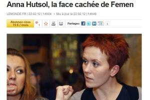 Anna Hutsol (direita), líder do grupo ativista Femen