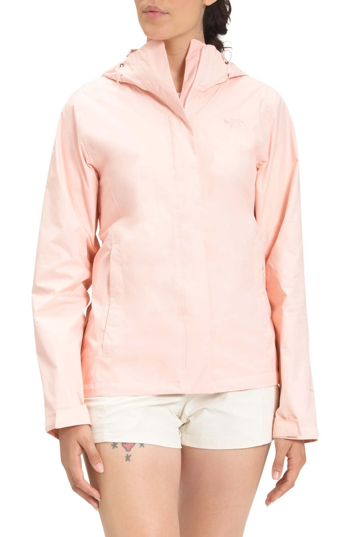 THE NORTH FACE Venture 2 Packabel Waterproof Jacket, Main, color, PEARL BLUSH