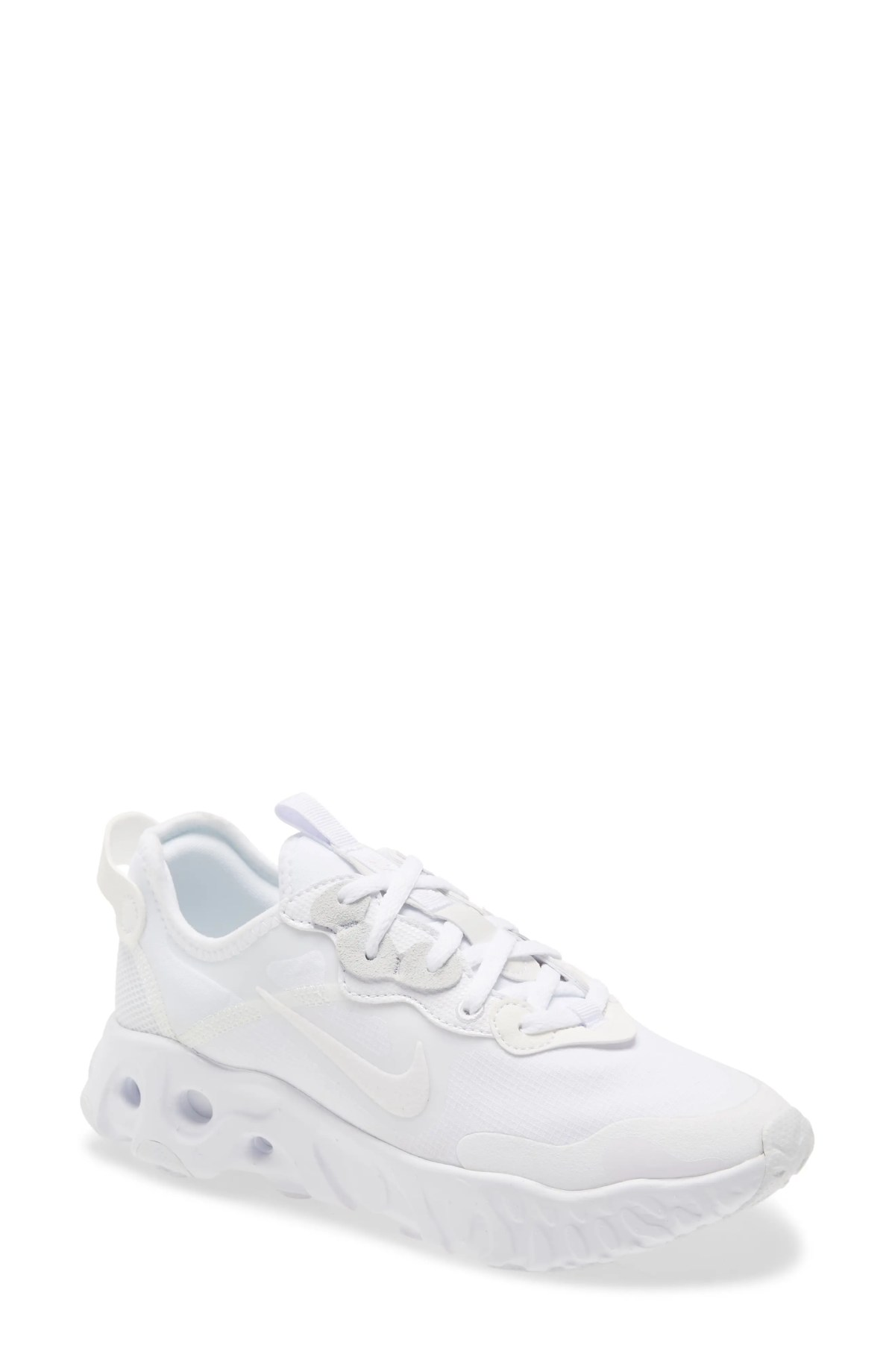 NIKE React Art3mis Sneaker, Main, color, WHITE/ WHITE/ WHITE