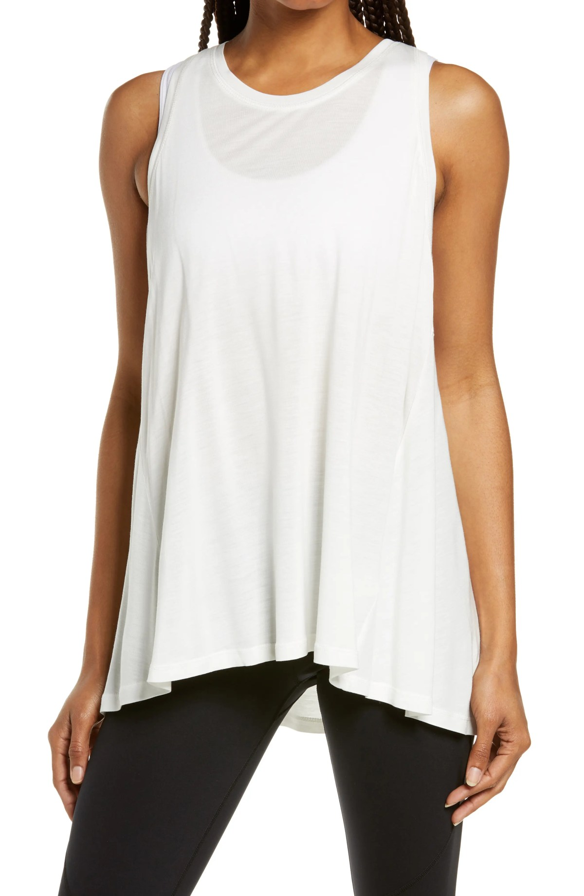 SWEATY BETTY Easy Peazy Tank Top, Main, color, LILY WHITE