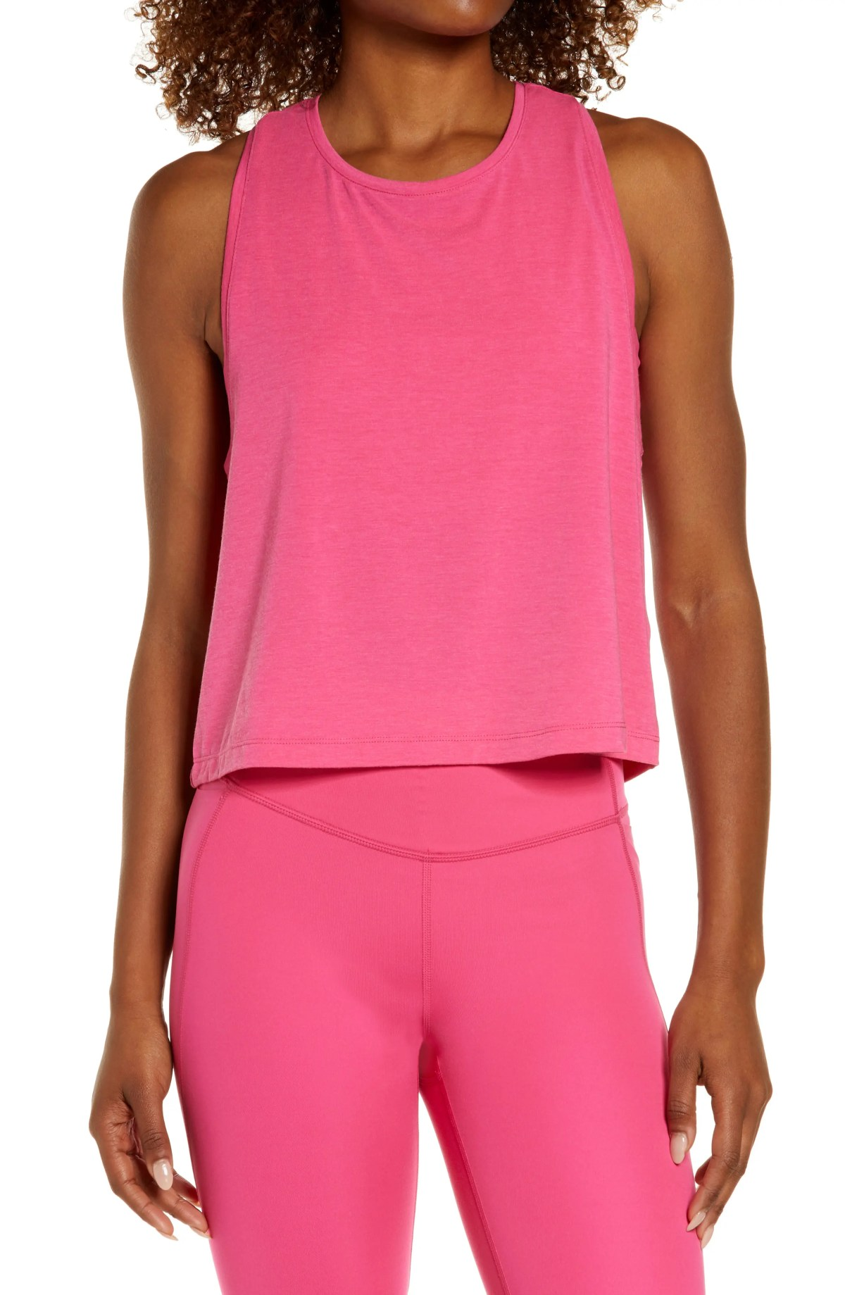 ZELLA Work For It Tank Top, Main, color, PINK ROUGE