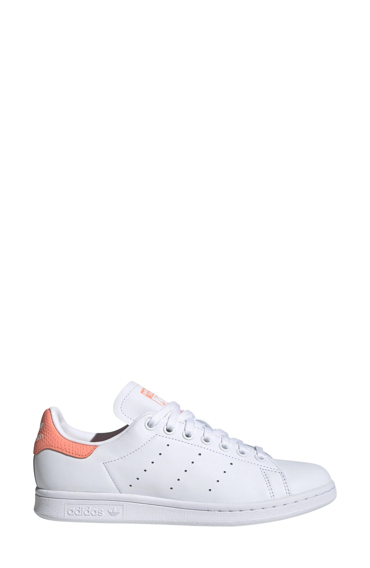 ADIDAS Stan Smith Sneaker, Alternate, color, WHITE/ WHITE/ CHALK CORAL