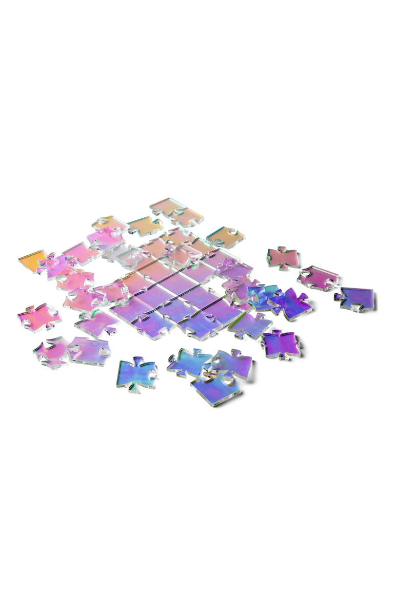 WAVES PUZZLE CO. 49-Piece Iridescent Waves Puzzle, Main, color, IRIDESCENT