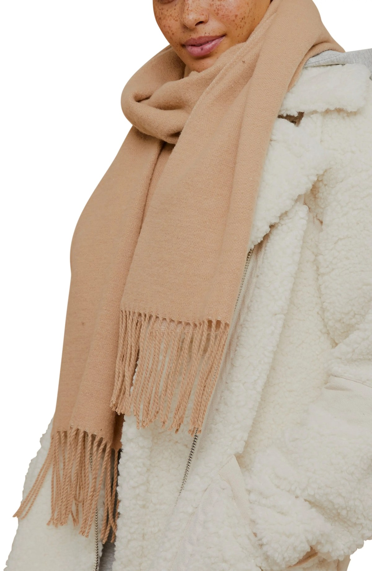 TOPSHOP Supersoft Scarf, Main, color, CAMEL