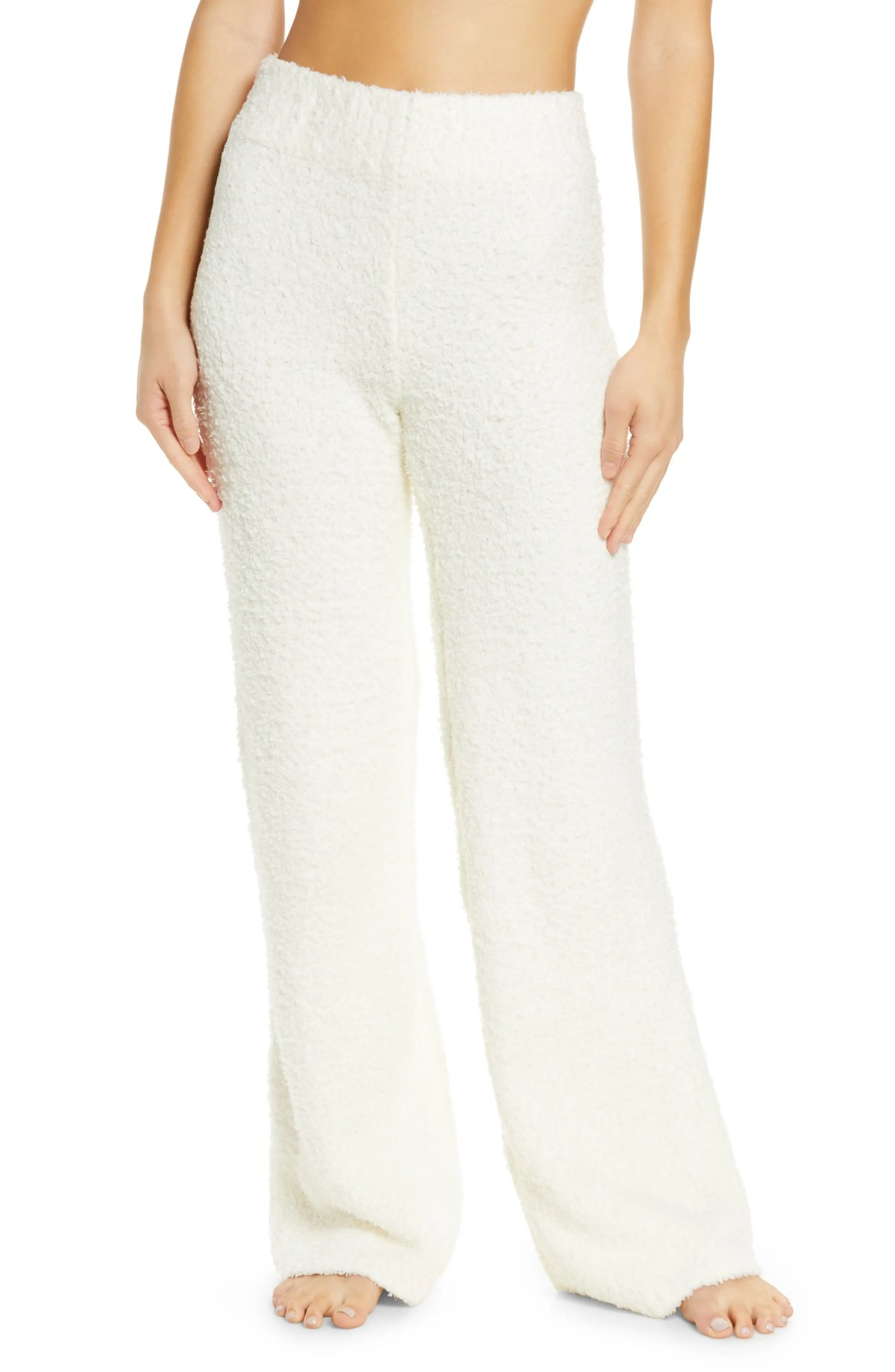 SKIMS Cozy Knit Pants, Main, color, BONE