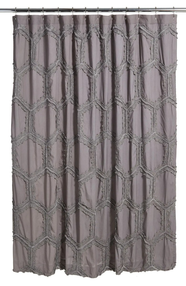 tufted lace shower curtain