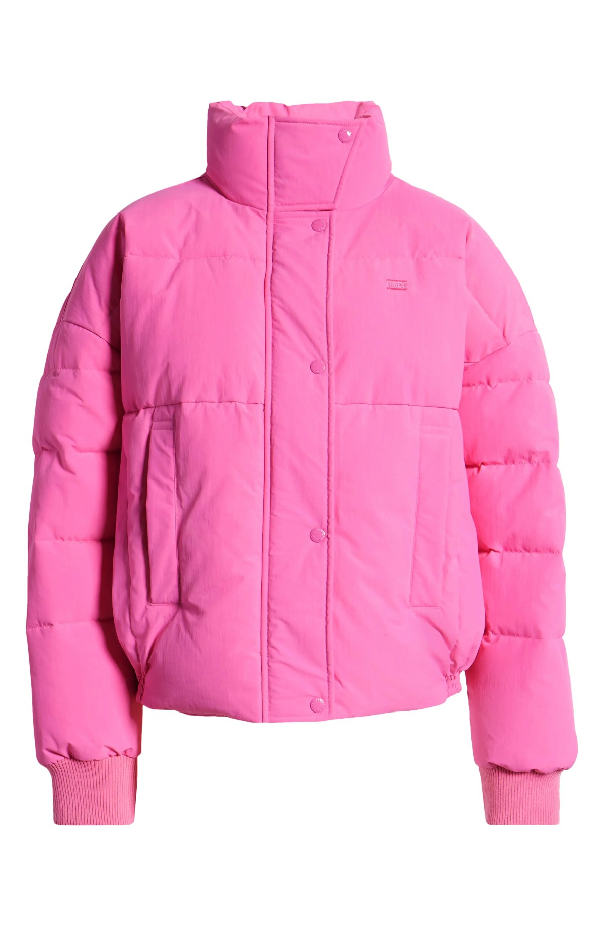 LEVI'S<SUP>®</SUP> Women's Puffer Jacket, Alternate, color, HOT PINK
