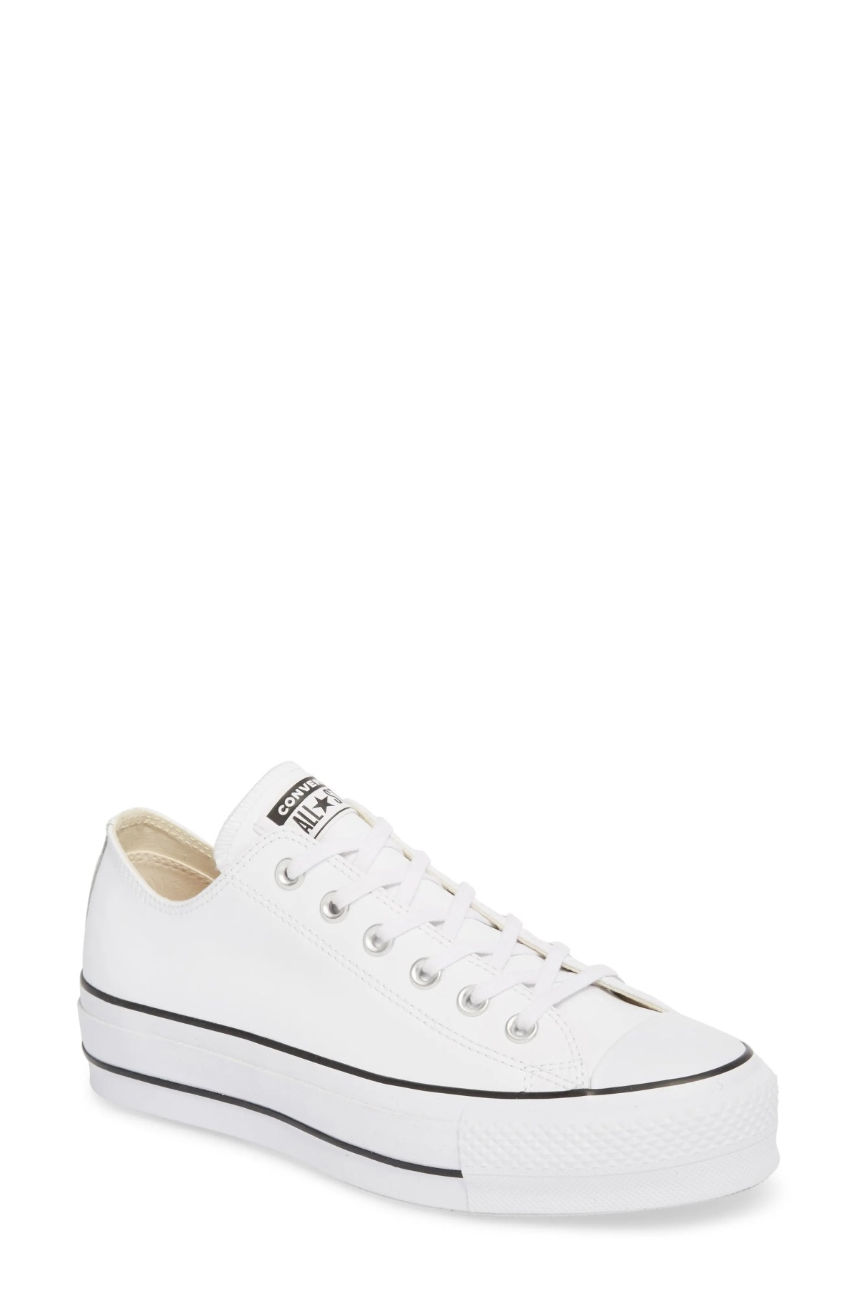 CONVERSE Chuck Taylor<sup>®</sup> All Star<sup>®</sup> Platform Sneaker, Main, color, WHITE LEATHER