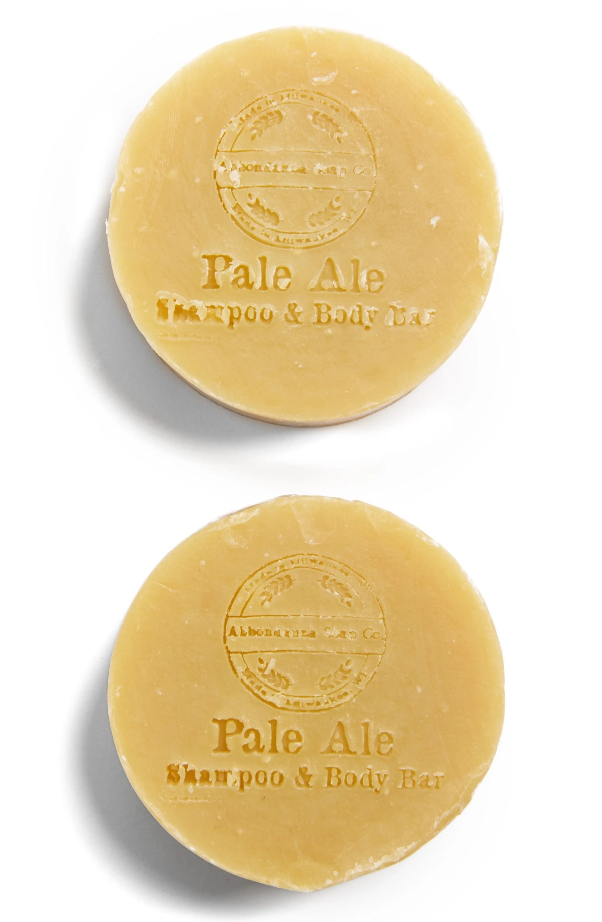PACKAGE FREE x Package Free x Abbondanza Soap Co. 2-Pack Pale Ale Shampoo & Body Bar, Main, color, NONE