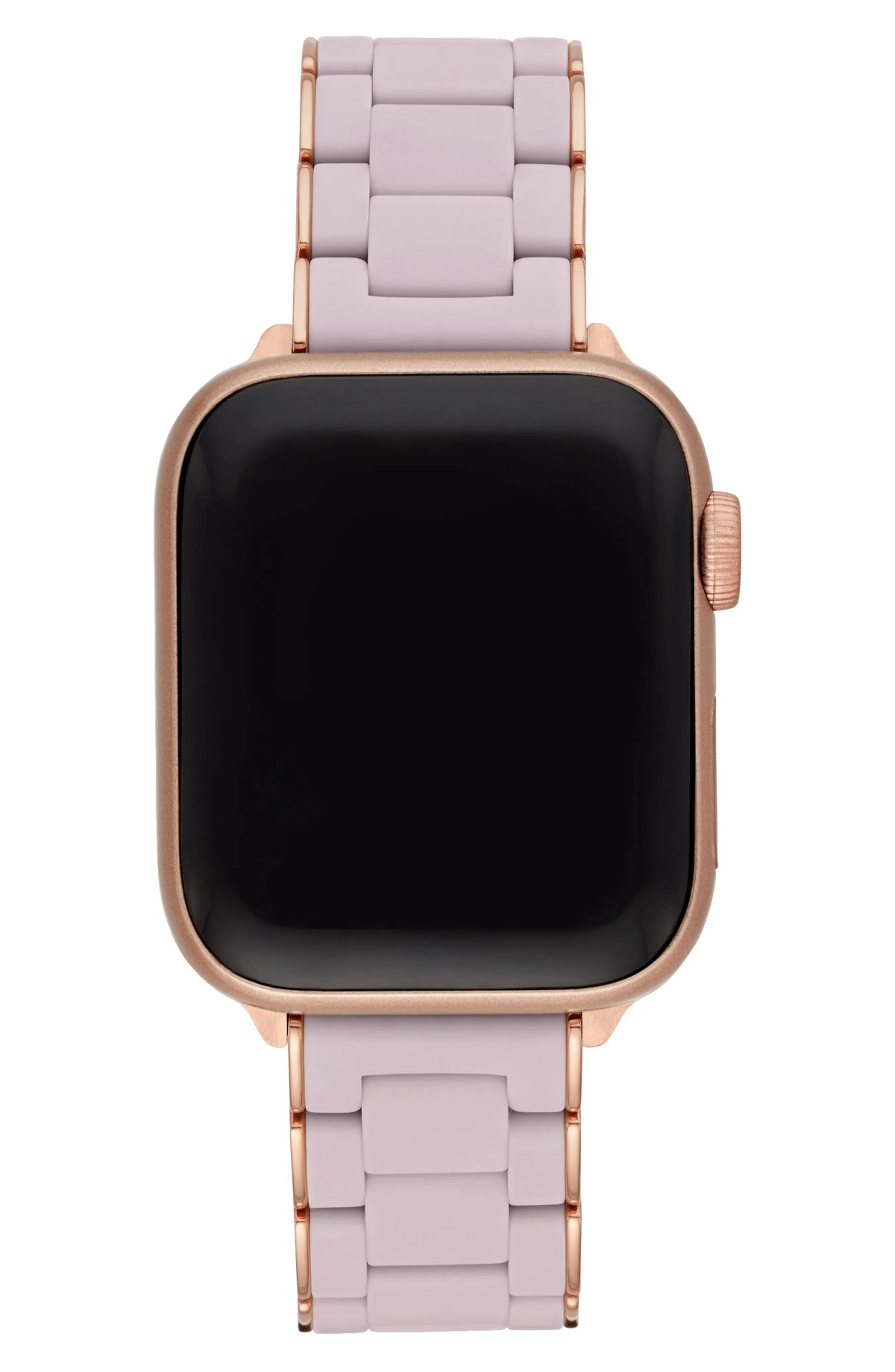 MICHELE Apple Watch<sup>®</sup> Wrapped Silicone Bracelet Strap, Alternate, color, LILAC/ROSE GOLD