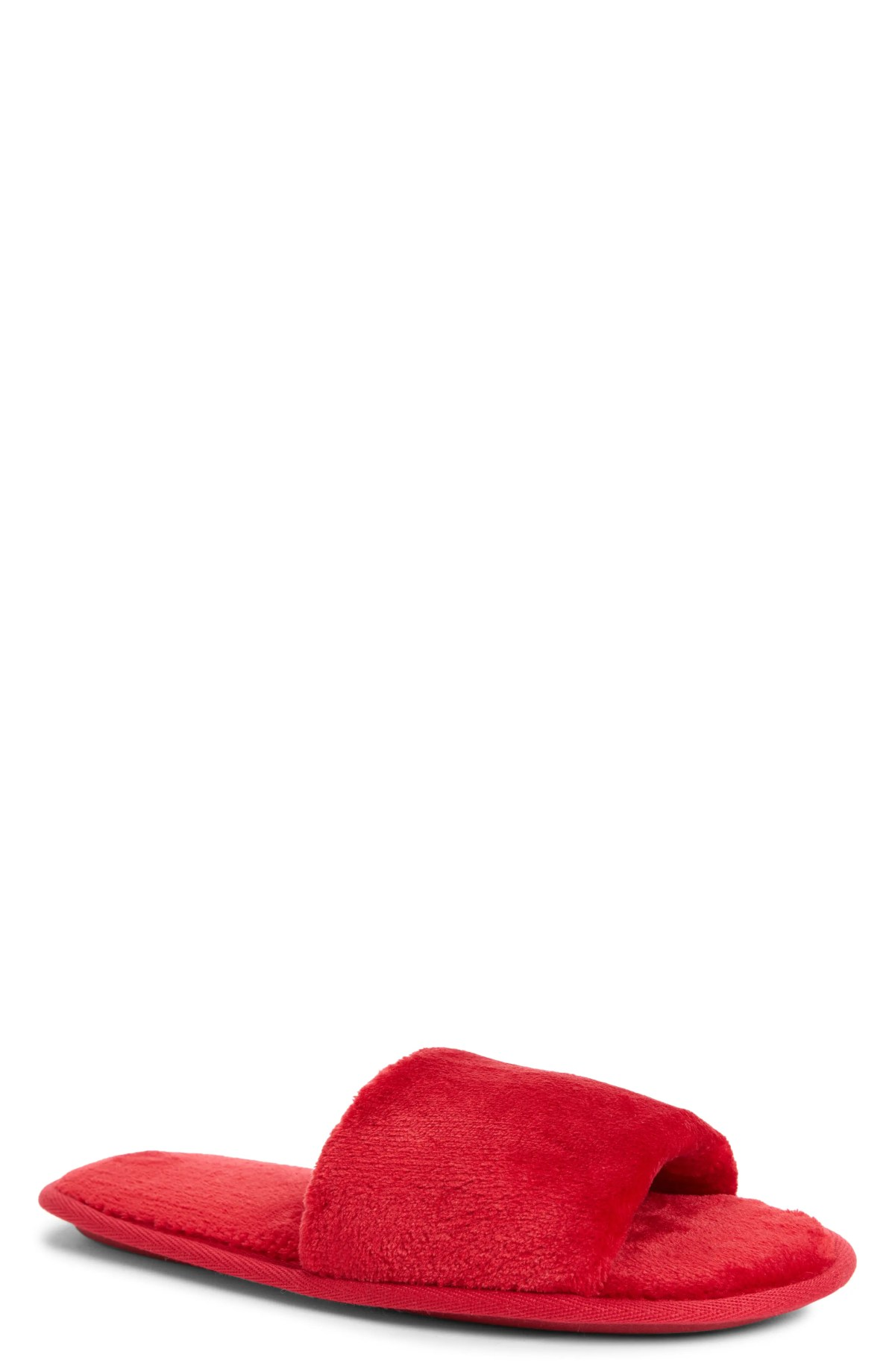 NORDSTROM Bliss Slipper, Main, color, RED CHILE