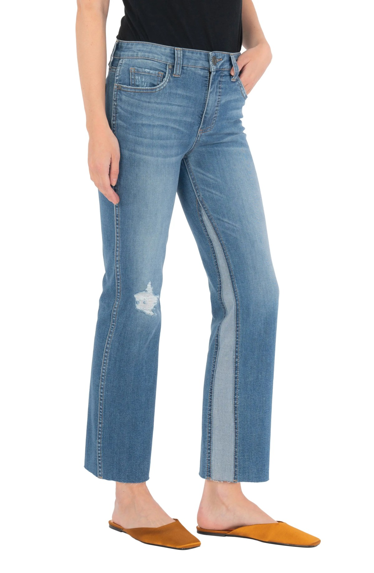 KUT FROM THE KLOTH Kelsey Fab Ab Inset High Waist Ankle Flare Jeans, Main, color, SPACIOUS