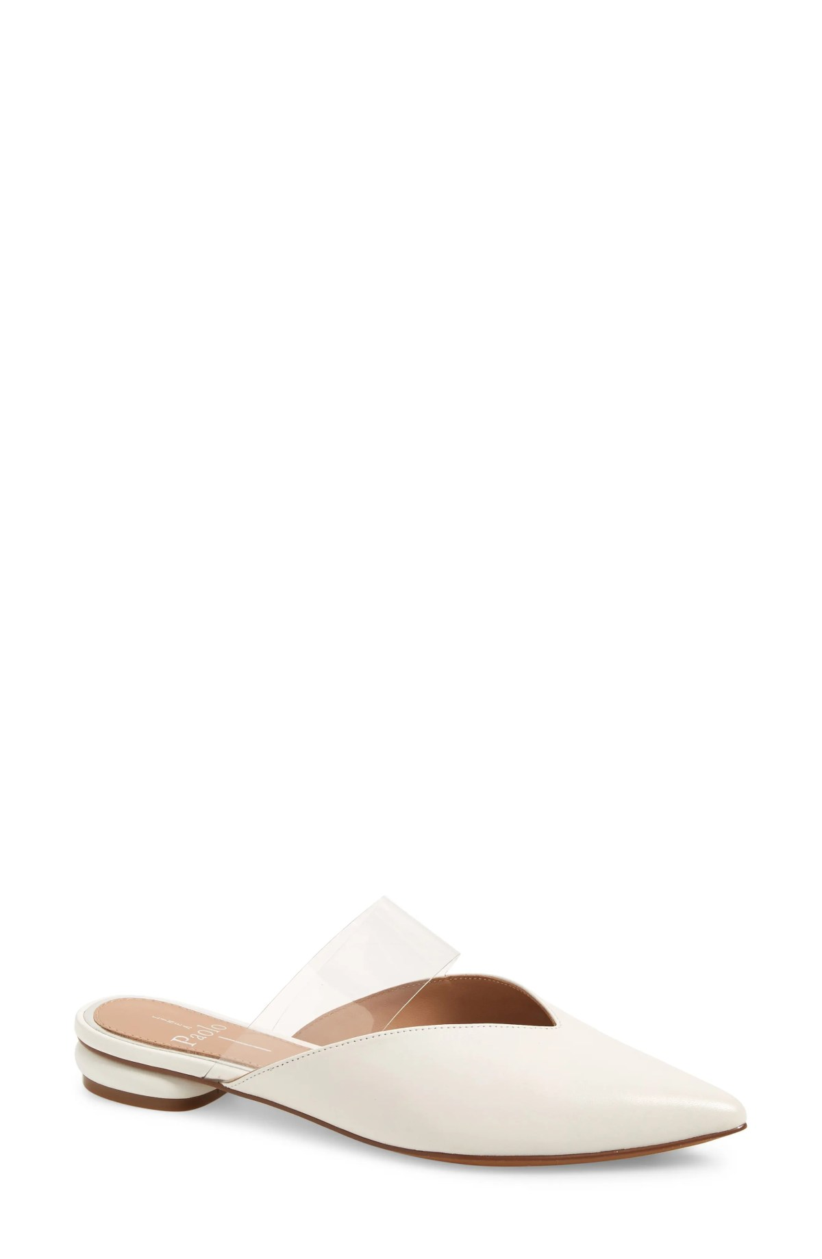LINEA PAOLO Abril Pointed Toe Mule, Main, color, EGGSHELL LEATHER