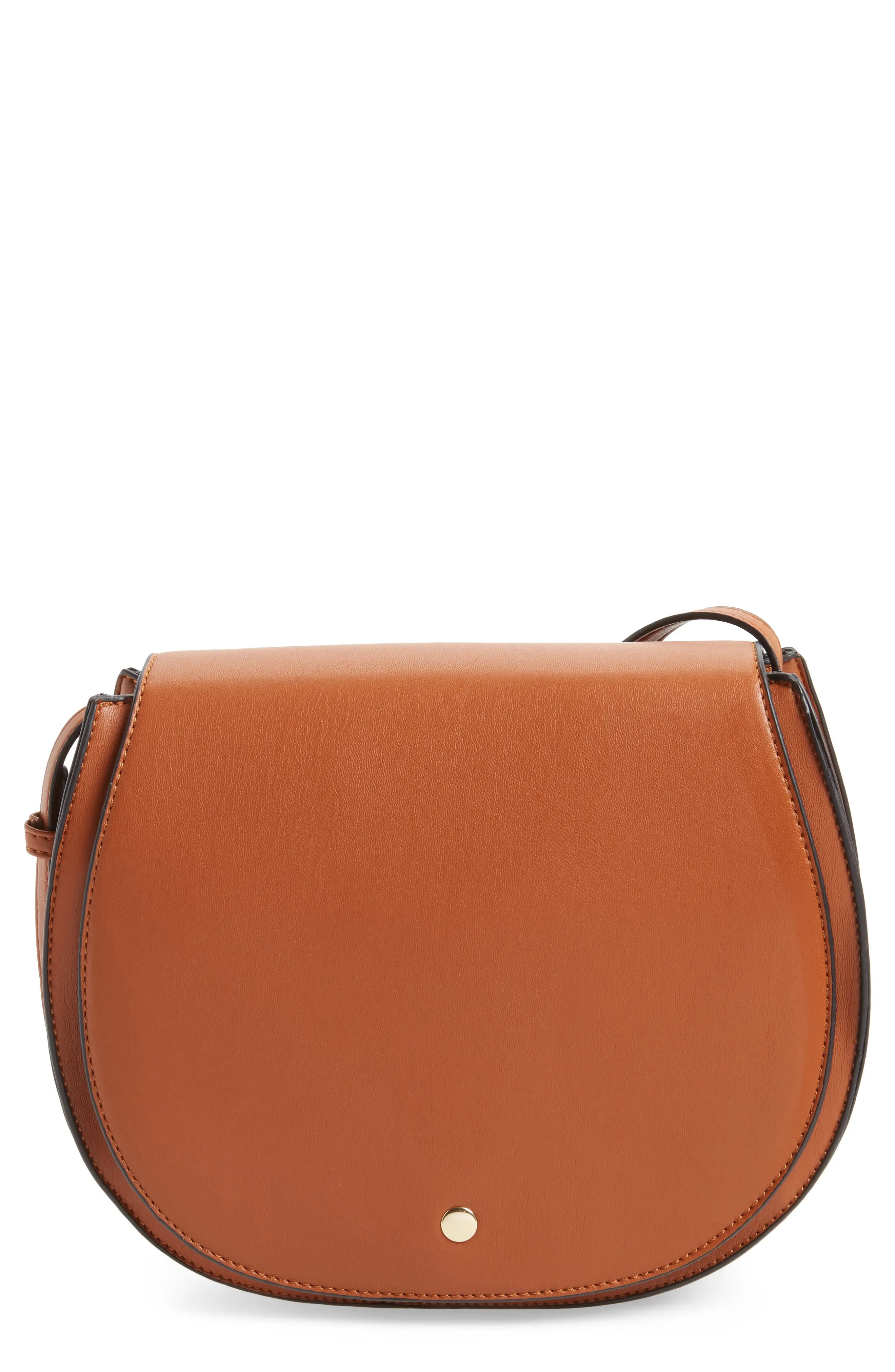 Sole Society Jules Two-Tone Faux Leather Saddlebag