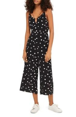 Main Image - Topshop Spot Strappy Culotte Jumpsuit