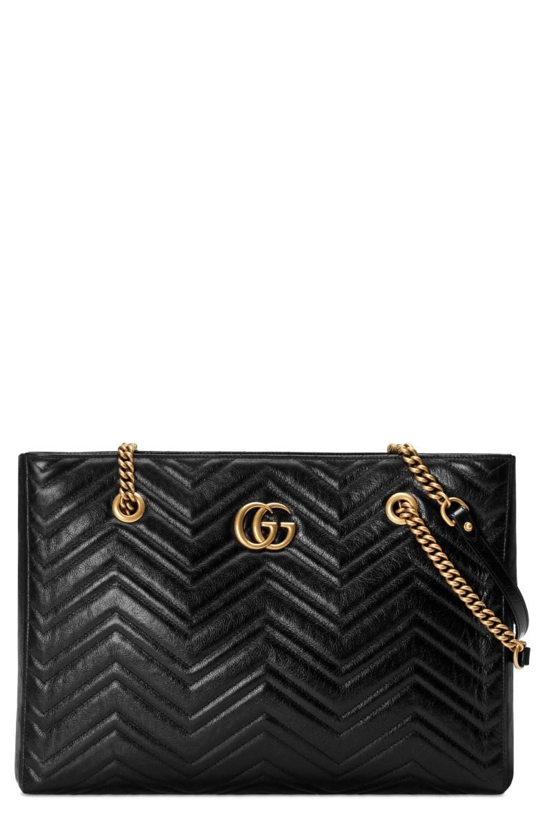 Gucci GG Marmont 2.0 Matelassé Medium Leather East/West Tote Bag