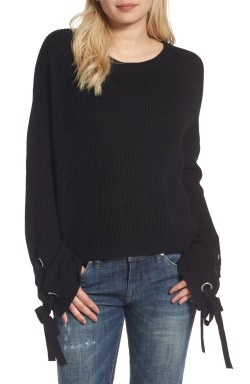Main Image - Love By Design Grommet Sleeve Pullover