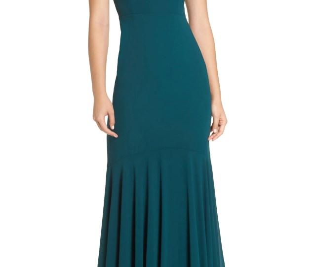 Lulus V Neck Chiffon Gown