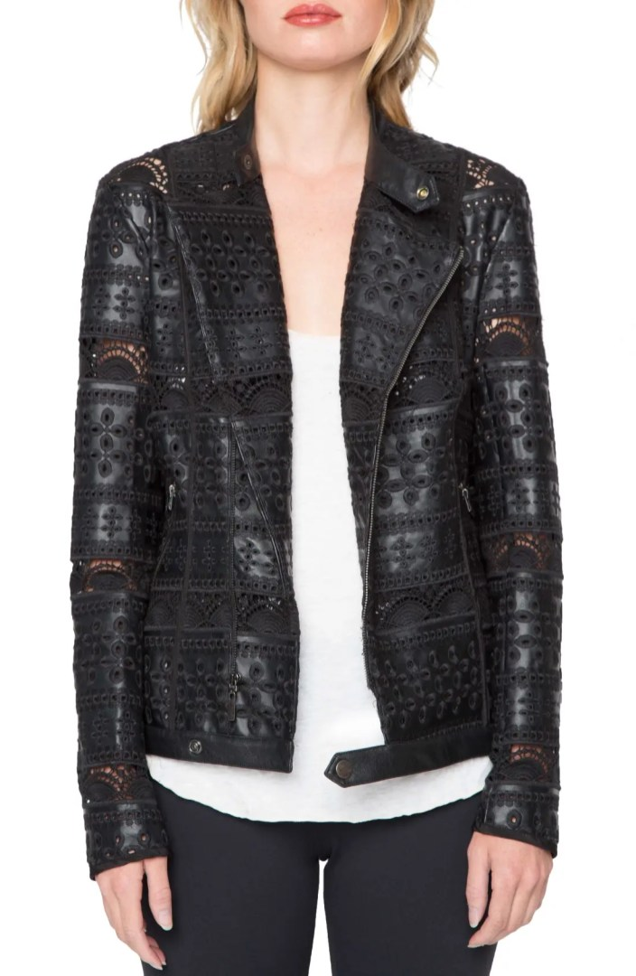 Willow Amp Clay Eyelet Faux Leather Jacket Nordstrom