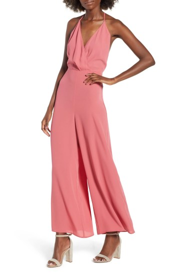 Surplice Jumpsuit,                         Main,                         color, Red Baroque