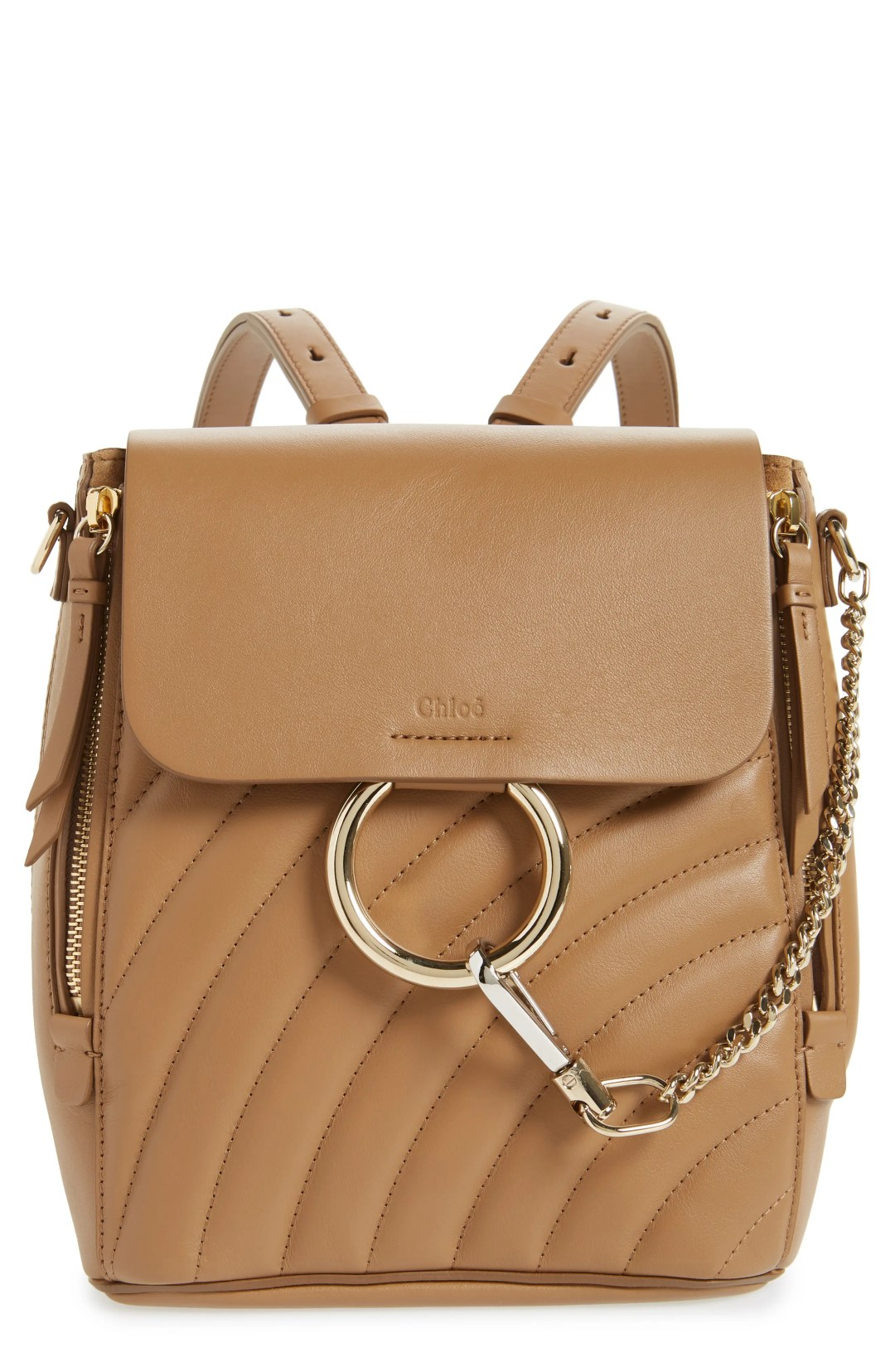 768ce8a121f Chloé Small Faye Quilted Leather Backpack