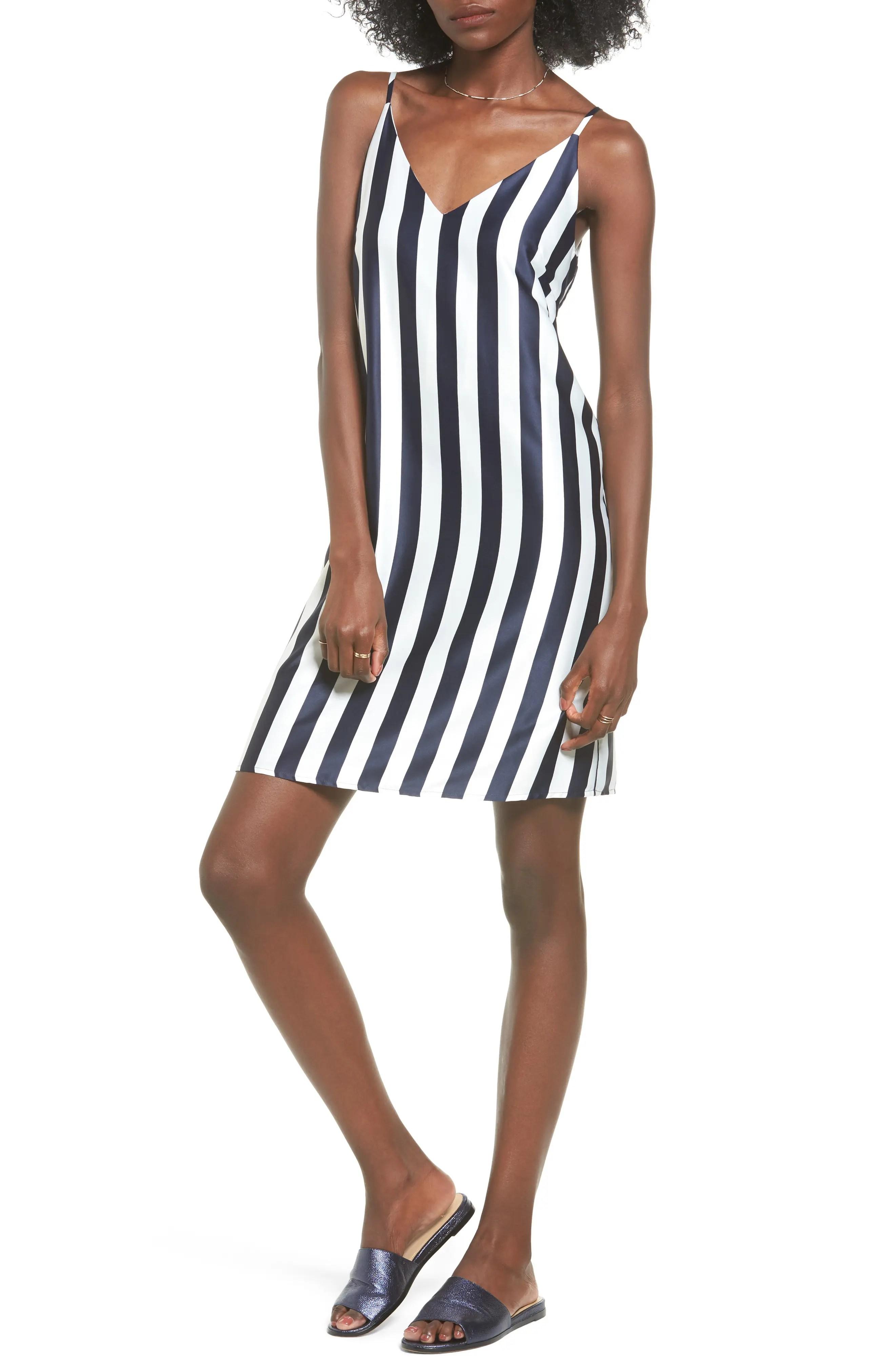 Main Image - Soprano Stripe Woven Shift Dress