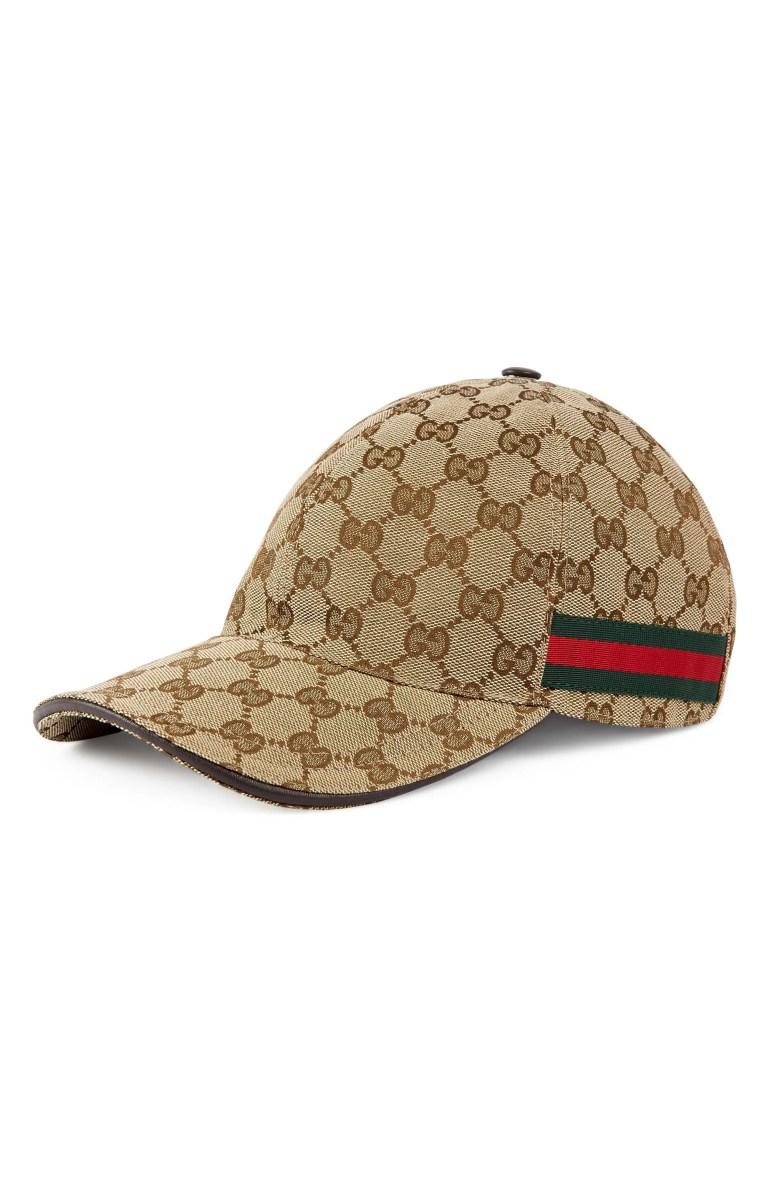 Gucci Logo Print Baseball Cap