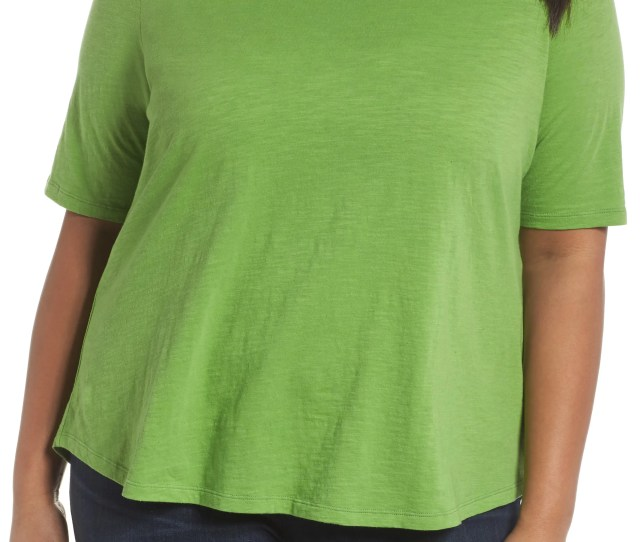 Eileen Fisher Crewneck Tee Plus Size
