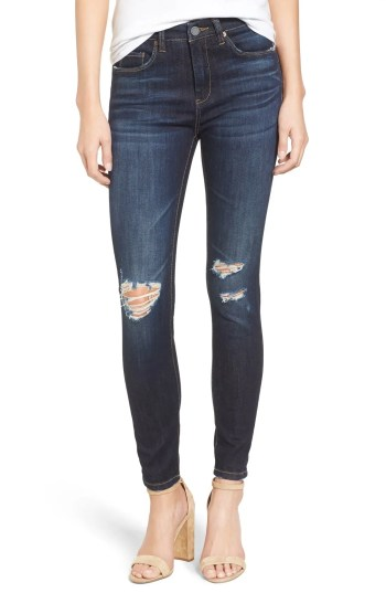 Main Image - BLANKNYC Distressed Skinny Jeans (Fully Loaded)