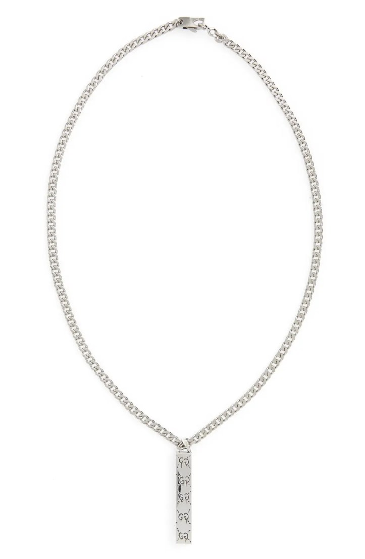 Gucci Ghost Motif Pendant Necklace