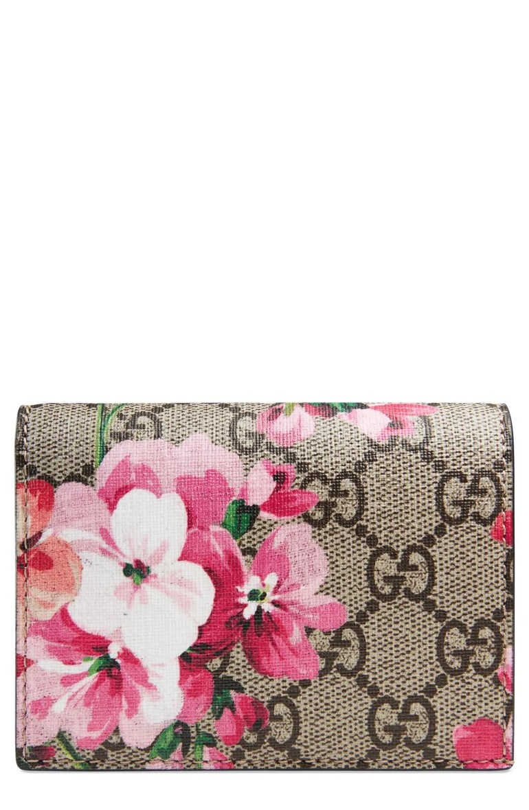 Gucci GG Blooms Canvas Card Case