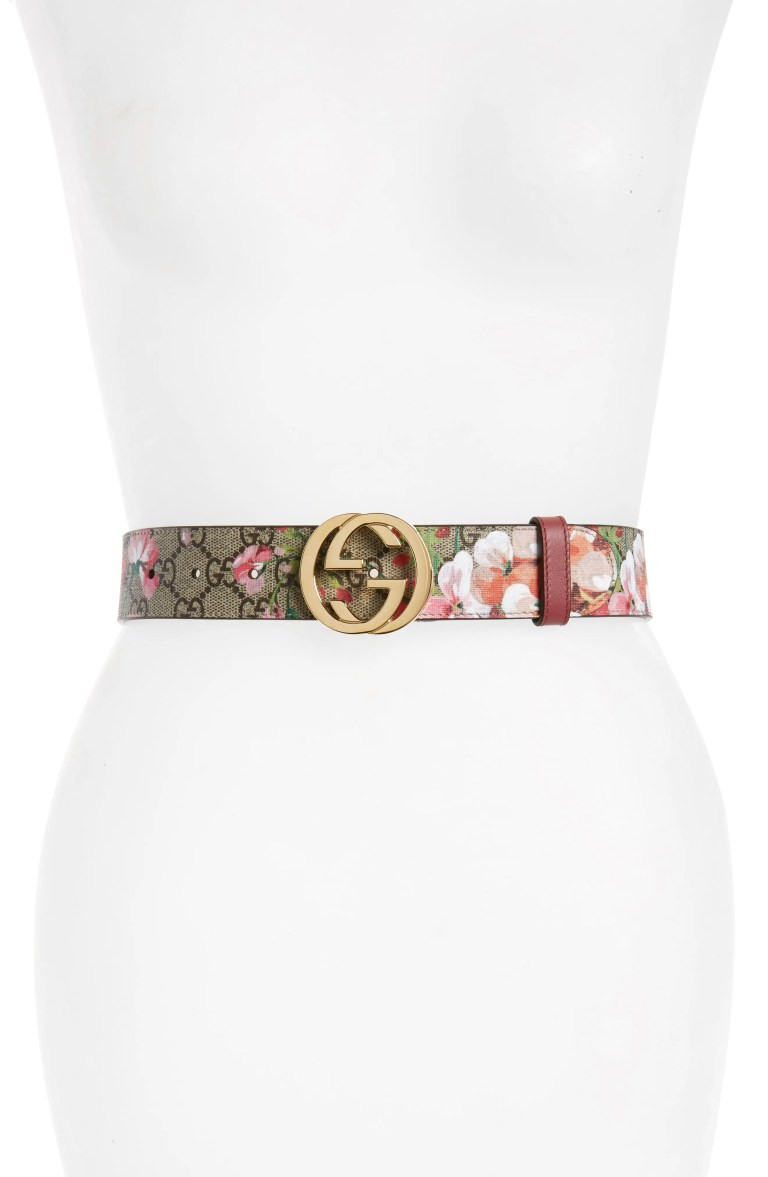 Gucci Rose Leather Belt
