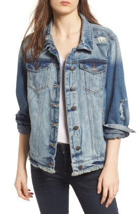 Main Image - STS Blue Frayed Denim Boyfriend Jacket (Jeffrey)