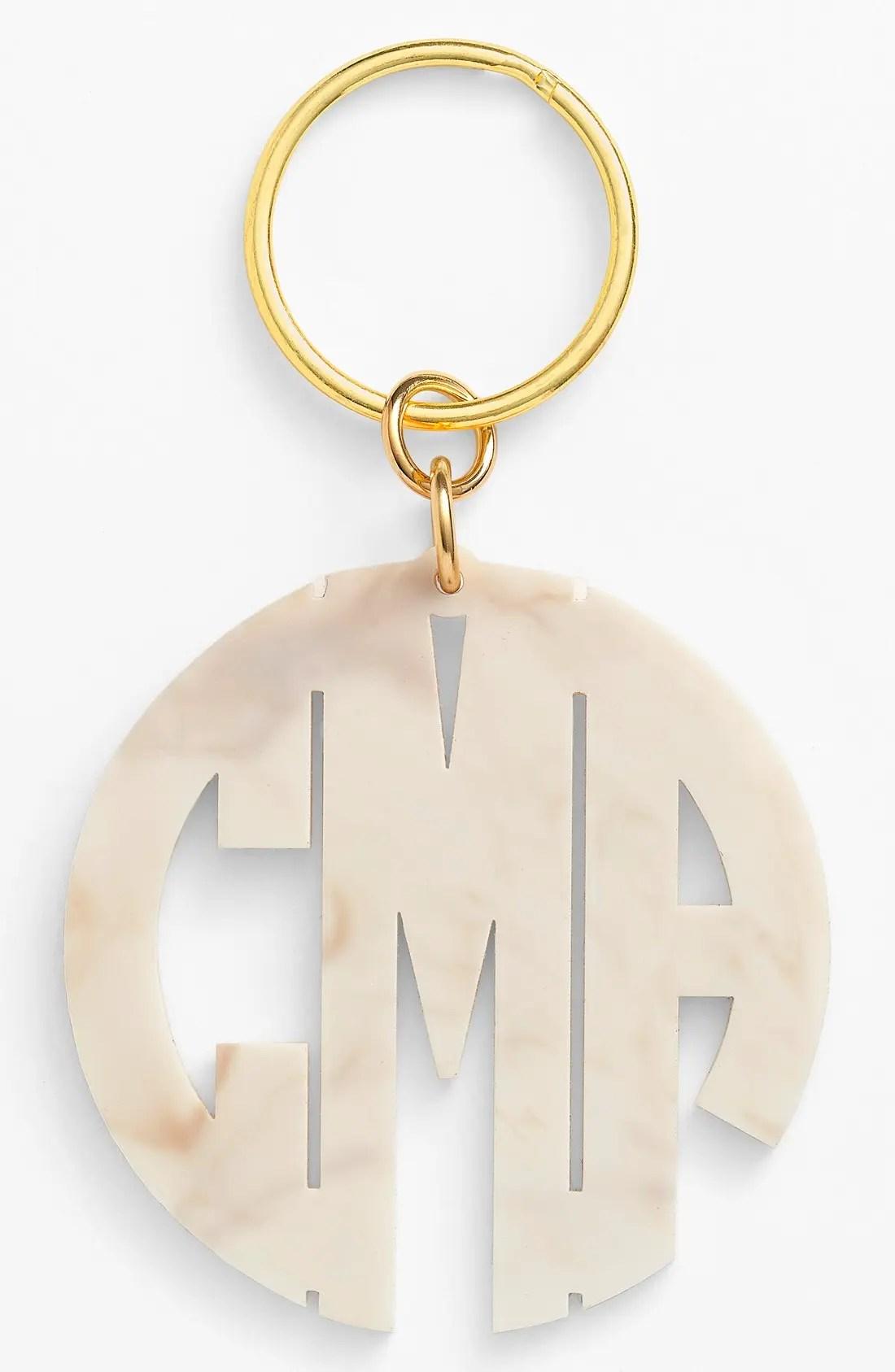 Main Image - Moon and Lola Personalized Monogram Key Chain