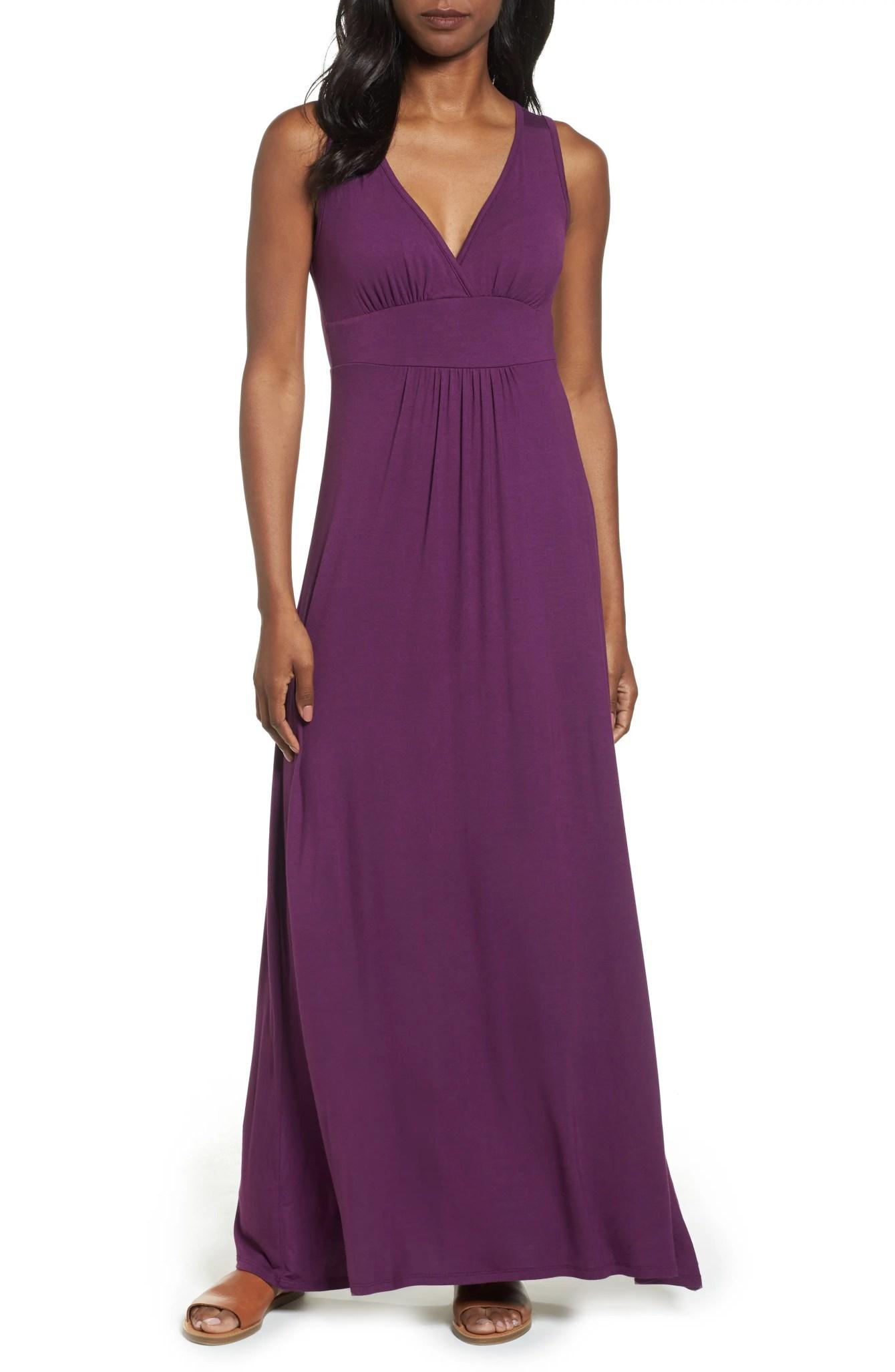 V-Neck Jersey Maxi Dress LOVEAPPELLA $68 (Nordstrom)