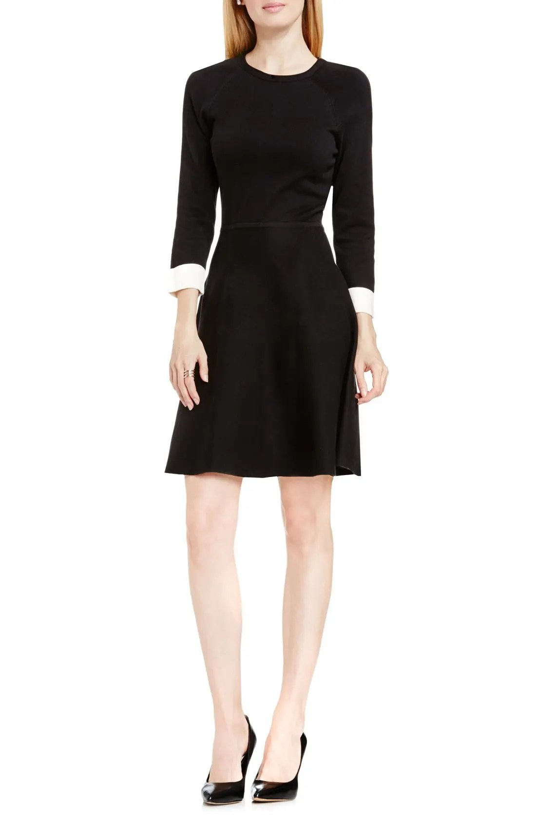 Fit & Flare Petite Sweater Dress VINCE CAMUTO $139